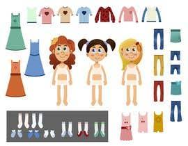 Nro 31 kilpailuun Illustration of cute little girls with outfit käyttäjältä ScottCoyotte