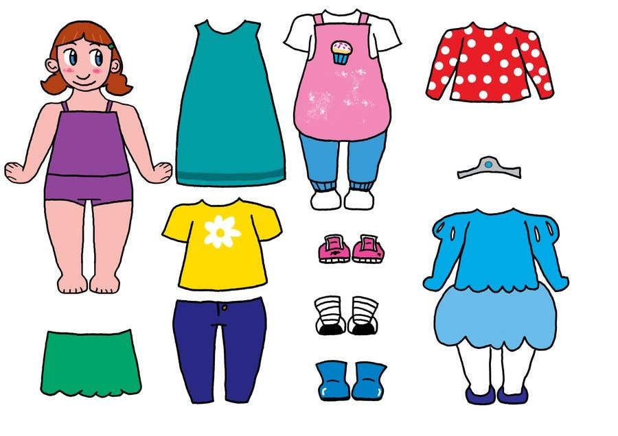 Penyertaan Peraduan #                                        40                                      untuk                                         Illustration of cute little girls with outfit