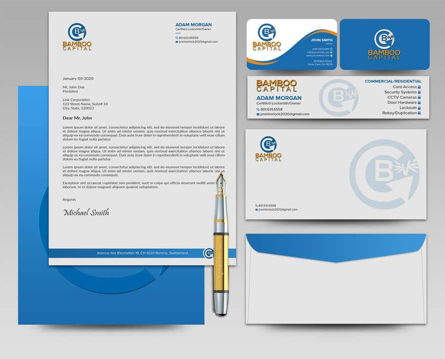 Konkurrenceindlæg #                                        186                                      for                                         Business Stationery Design