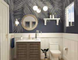 #38 cho Half bath interior design in 3d - coastal transitional design style bởi loreliojeda