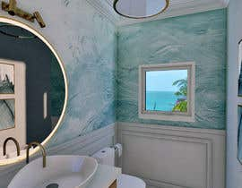 #44 cho Half bath interior design in 3d - coastal transitional design style bởi ilustrarq