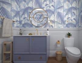 #27 cho Half bath interior design in 3d - coastal transitional design style bởi anasg6