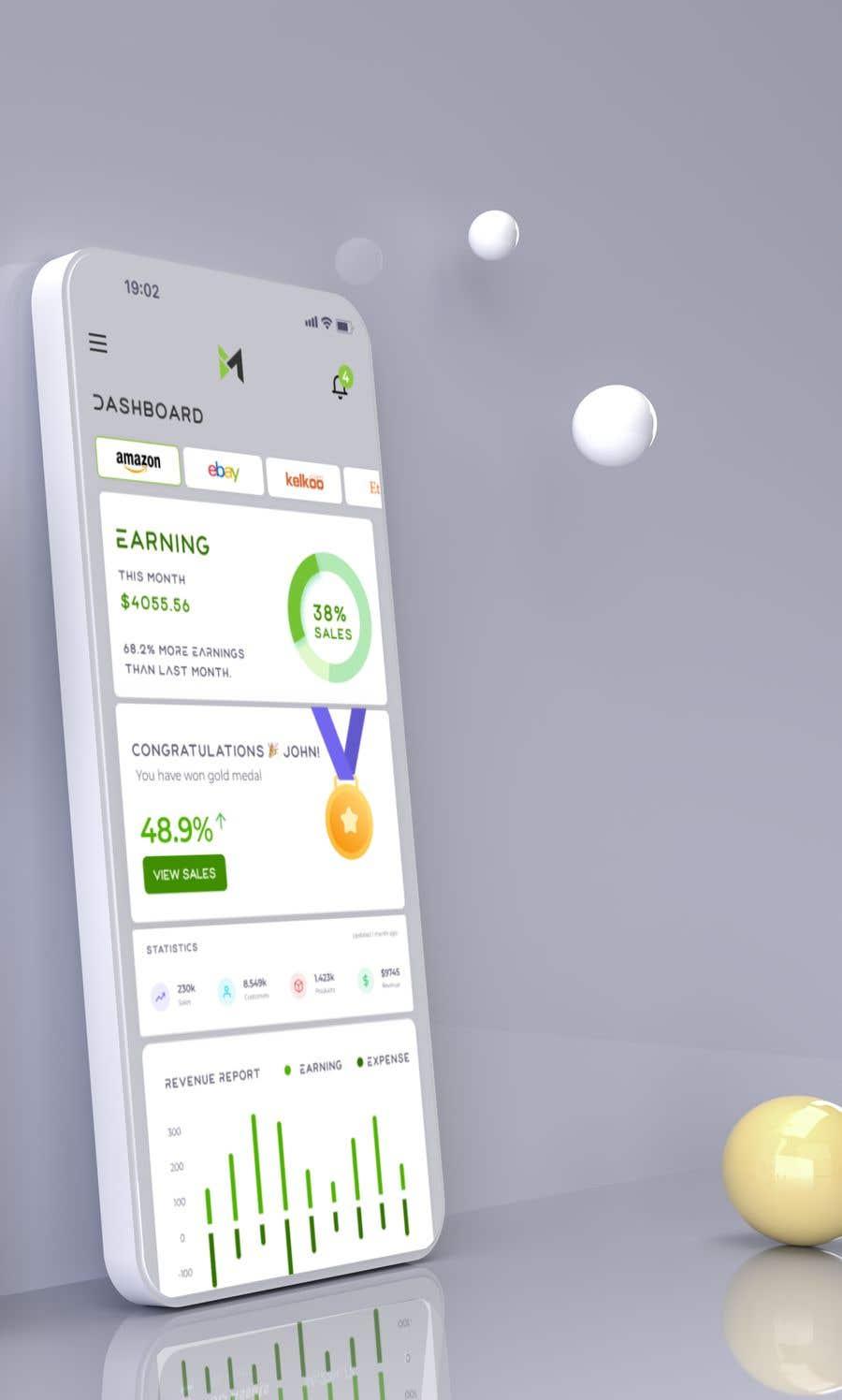 Kilpailutyö #                                        53                                      kilpailussa                                         UI & UX Custom Design for App (Business Manager ERP System)