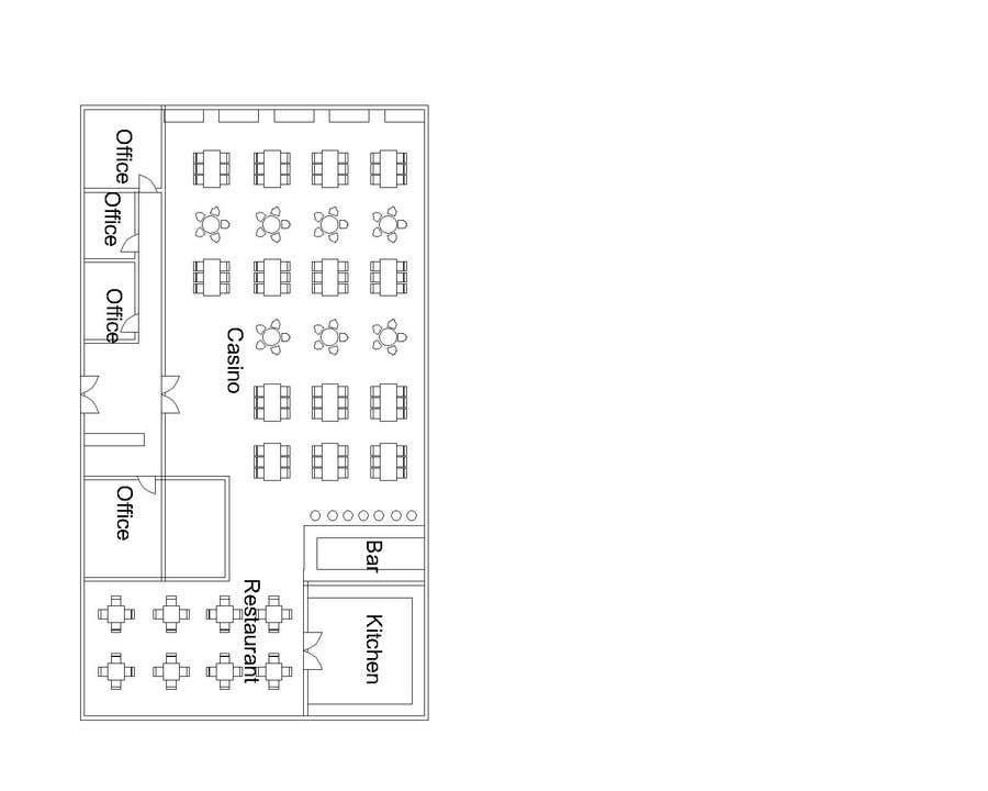 Konkurrenceindlæg #                                        8                                      for                                         Casino Floor Plan and concept design