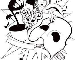 #19 untuk Neo Traditional, Musical Themed Tattoo oleh angelinaart