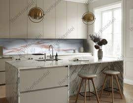 Nro 34 kilpailuun Create realistic visualisation of kitchen glass splashback with gold effect käyttäjältä IhorKozodoy