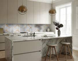 Nro 26 kilpailuun Create realistic visualisation of kitchen glass splashback with gold effect käyttäjältä upworkstudent