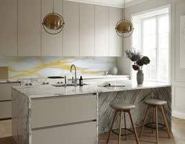 Nro 23 kilpailuun Create realistic visualisation of kitchen glass splashback with gold effect käyttäjältä sidiqmunandar