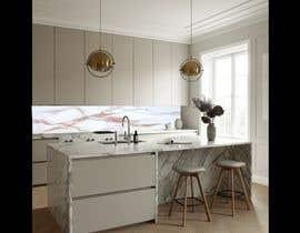 Nro 39 kilpailuun Create realistic visualisation of kitchen glass splashback with gold effect käyttäjältä AbodySamy
