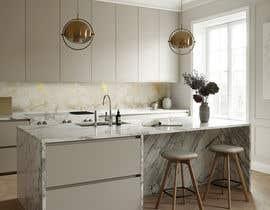 Nro 33 kilpailuun Create realistic visualisation of kitchen glass splashback with gold effect käyttäjältä guljee07