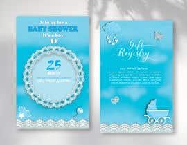Nro 295 kilpailuun Design Me A Baby Shower Invitation käyttäjältä marymun2018