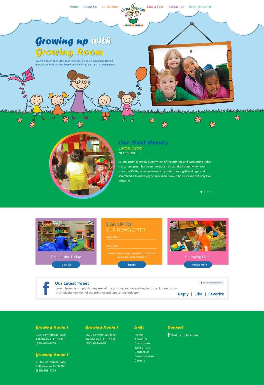 Inscrição nº                                         11                                      do Concurso para                                         Design a Website Mockup for Little Einstein's Learning Center (Daycare)