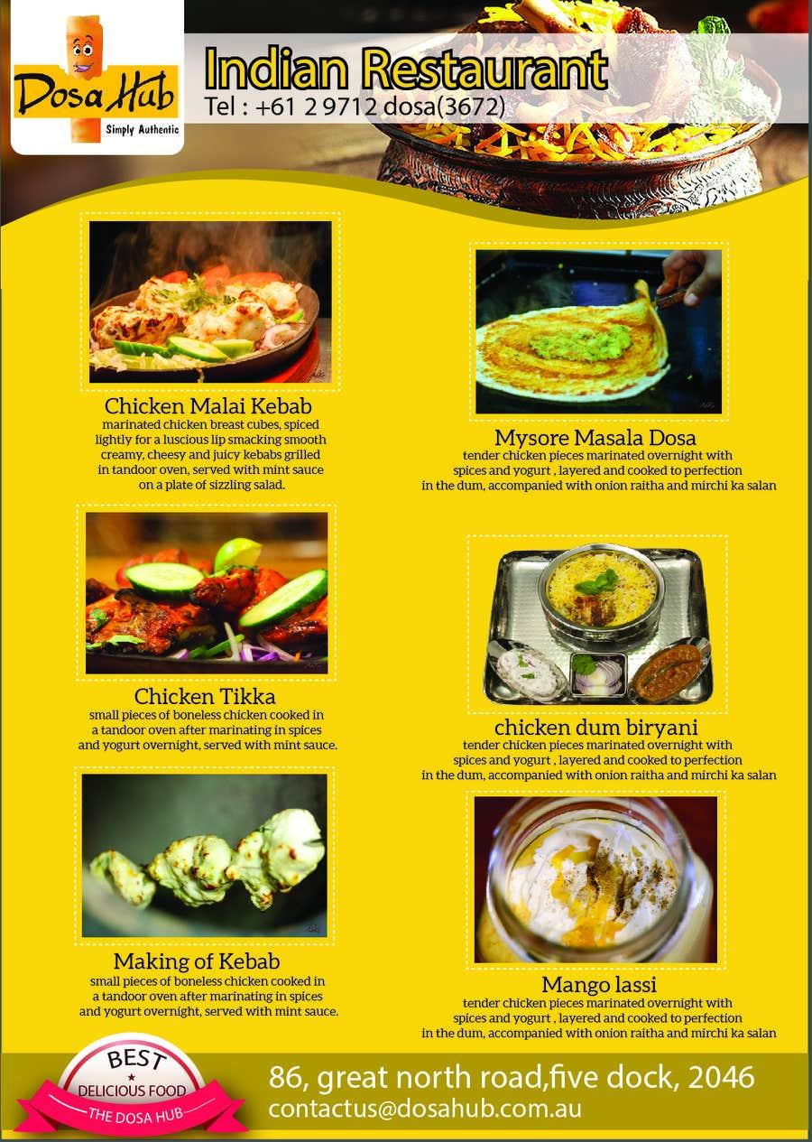 Konkurrenceindlæg #1 for Design a Flyer for Restaurant Mass Publicity
