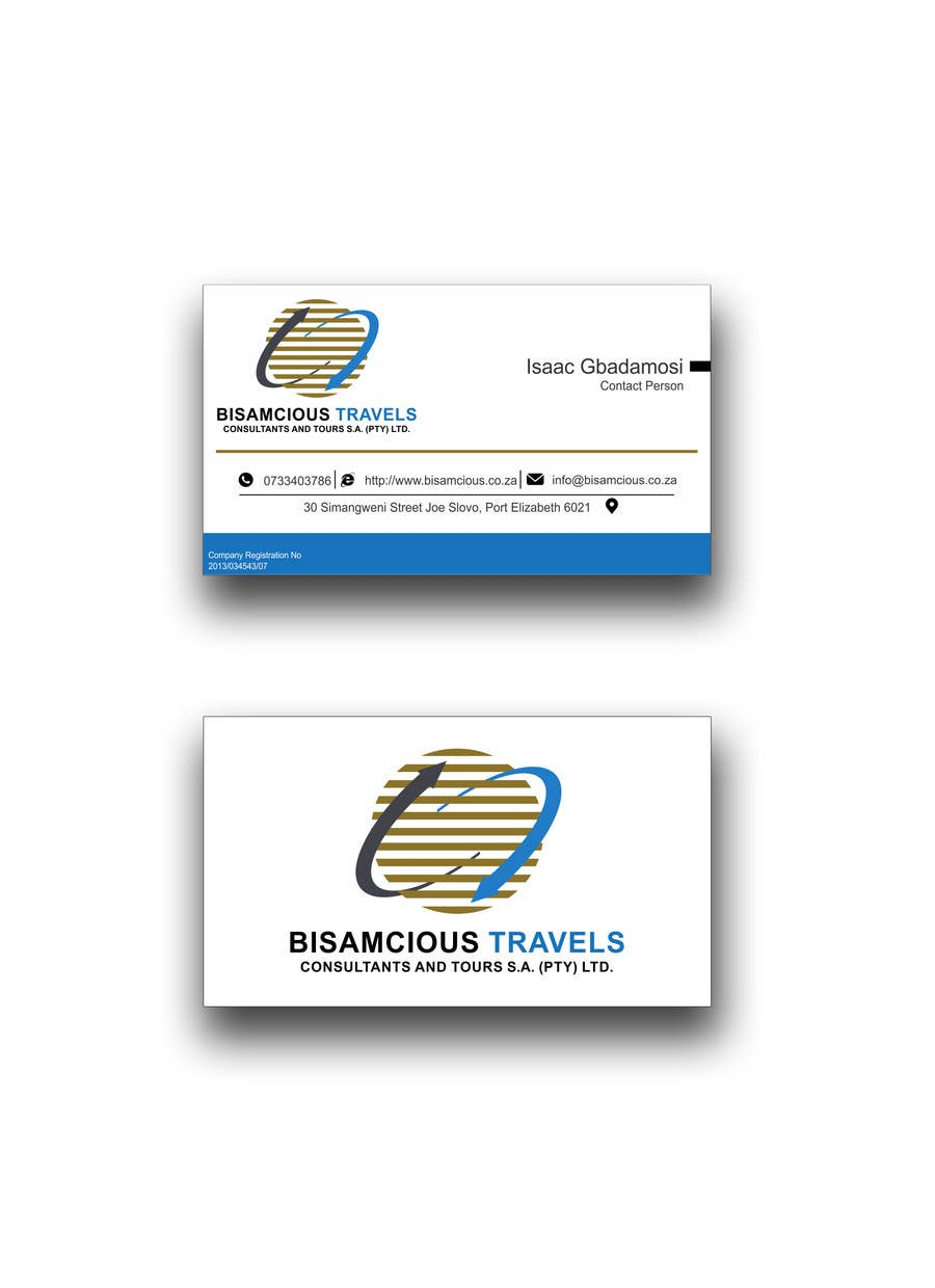 Contest Entry #                                        3                                      for                                         Design a letterhead and business cards for a travel consultantcy