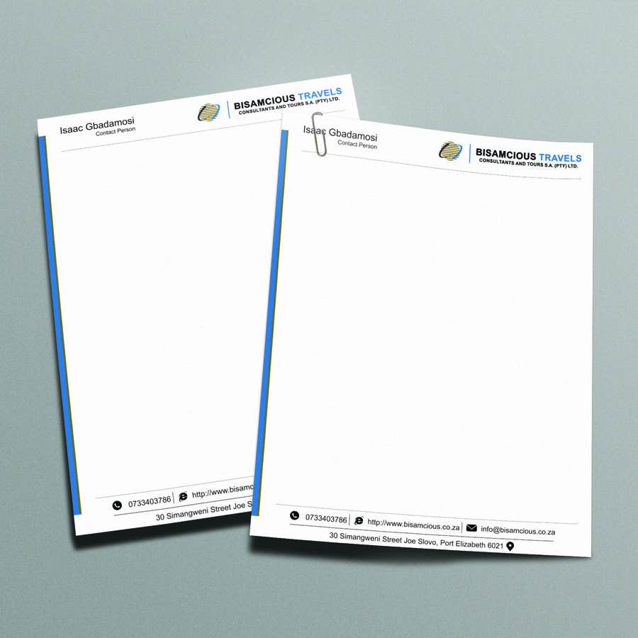Contest Entry #                                        6                                      for                                         Design a letterhead and business cards for a travel consultantcy