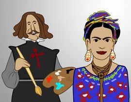 #1 for Ilustración personajes de  Velazquez y a Frieda/ frieda and Velazquez characters af Imagenatio