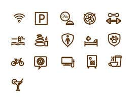 EvgeniyDenisov tarafından Design some Icons for hotel amenities için no 12