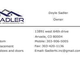 Adam5512 tarafından Design some Business Cards for sadler home improvements için no 2