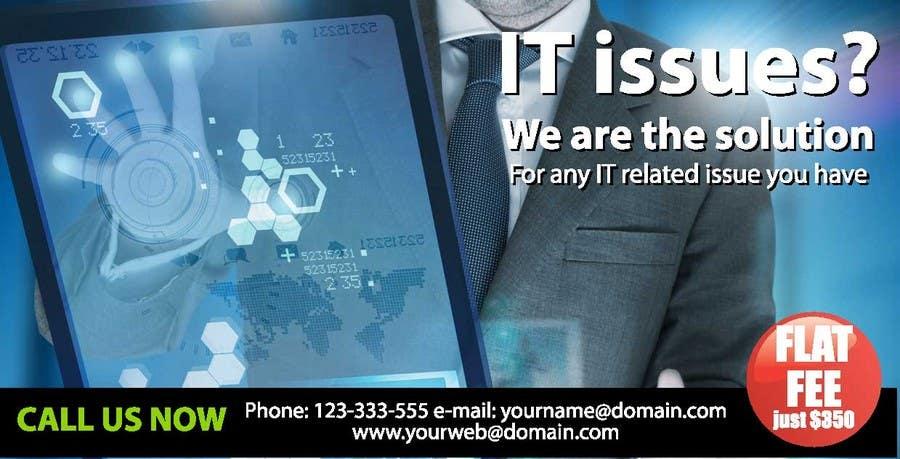 Penyertaan Peraduan #12 untuk Design advertisement for IT onsite service.