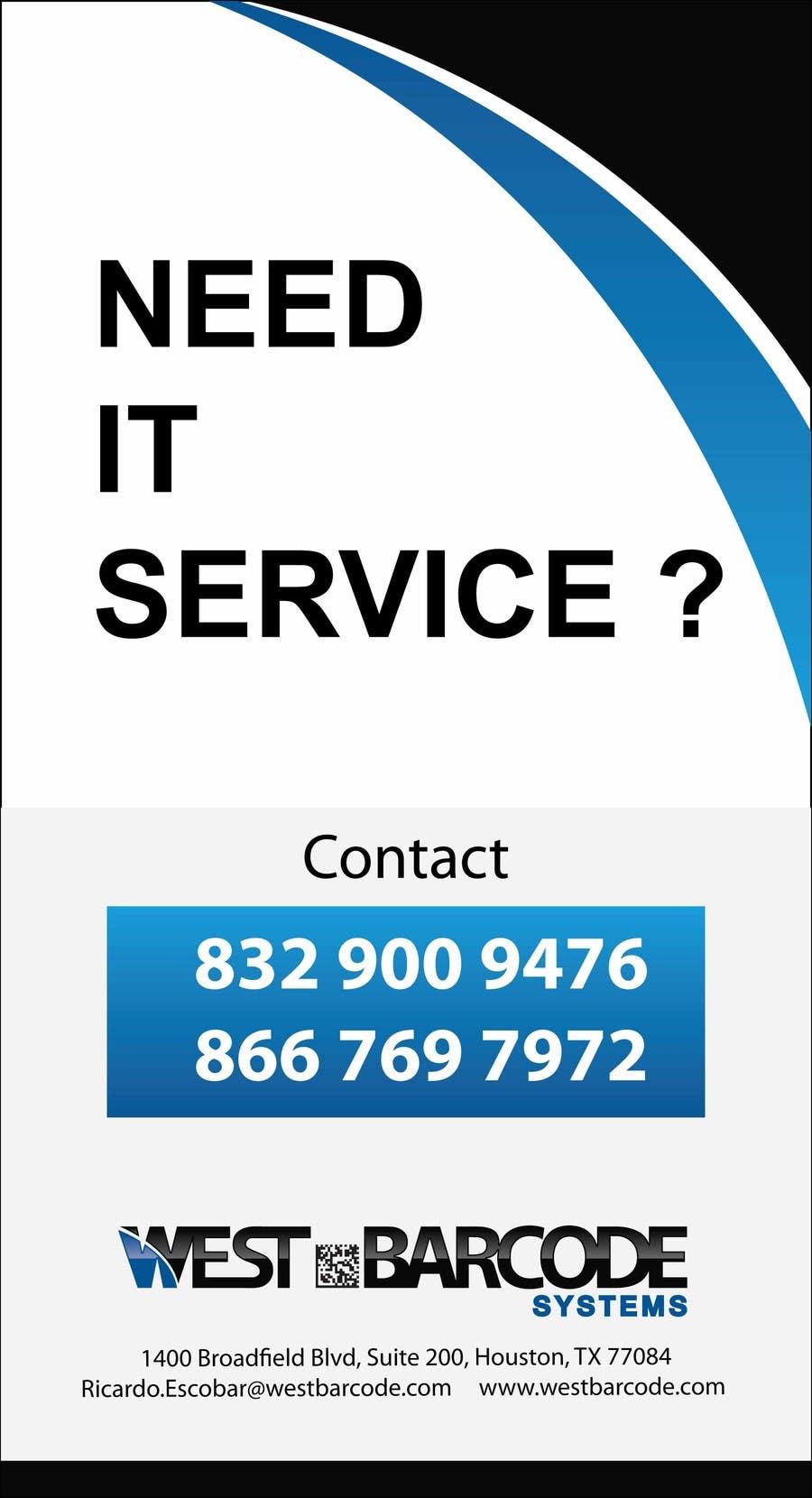 Penyertaan Peraduan #9 untuk Design advertisement for IT onsite service.