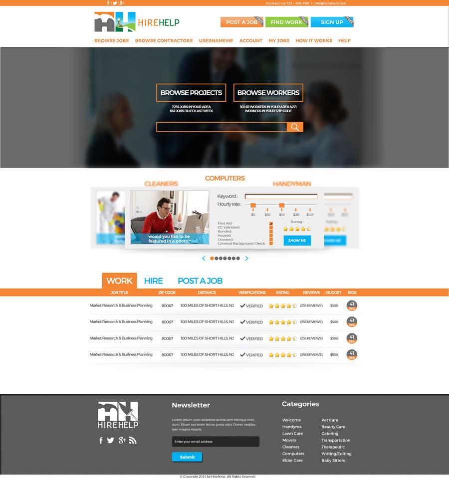 Konkurrenceindlæg #                                        3                                      for                                         Design a Website Mockup for HireHelp.com
