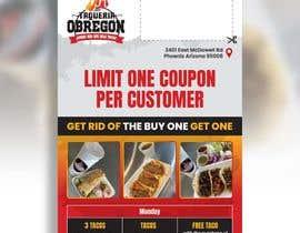 Nro 375 kilpailuun Build me a flyer, buy one get one free coupons.  Three tacos for the price of two.  Taco Tuesday 50%. käyttäjältä hhabibur525