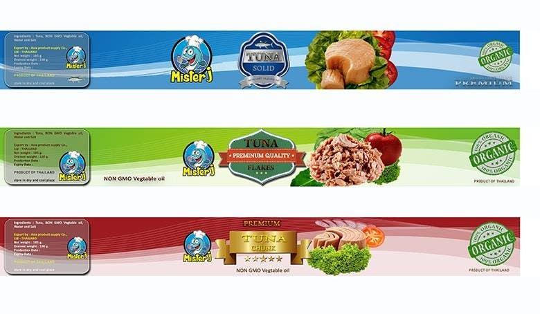 Inscrição nº 26 do Concurso para Canned tuna label and poster design.