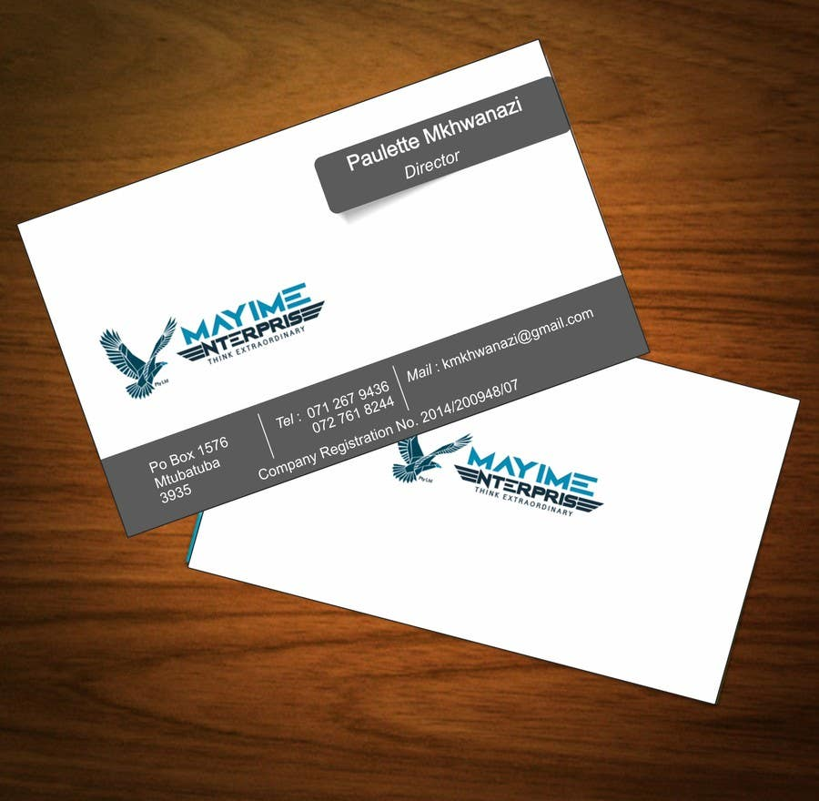 Contest Entry #                                        16                                      for                                         Design a business card for a holding company