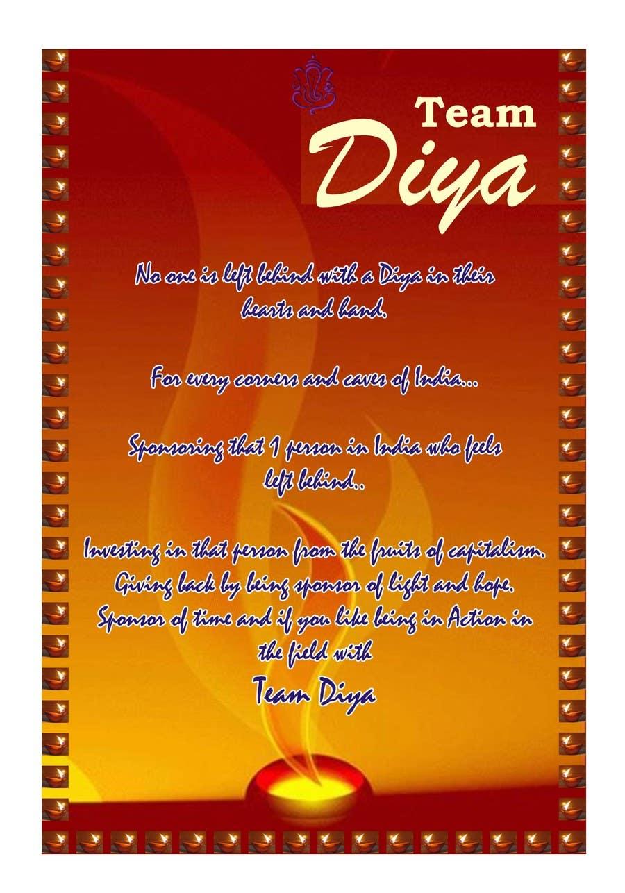 Contest Entry #                                        5                                      for                                         Design a Brochure for Hand Made Diya brochure.