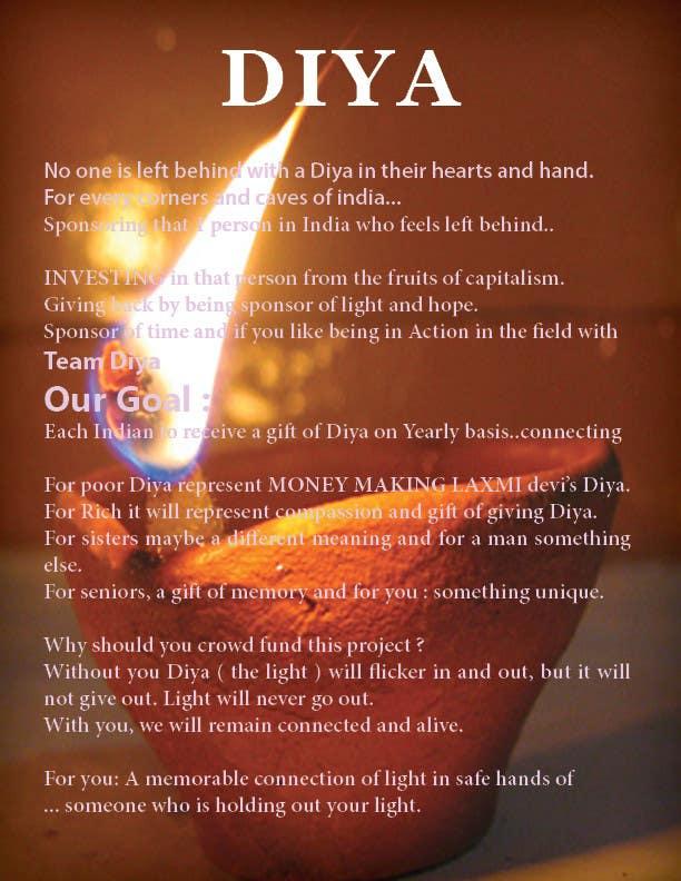 Contest Entry #                                        4                                      for                                         Design a Brochure for Hand Made Diya brochure.