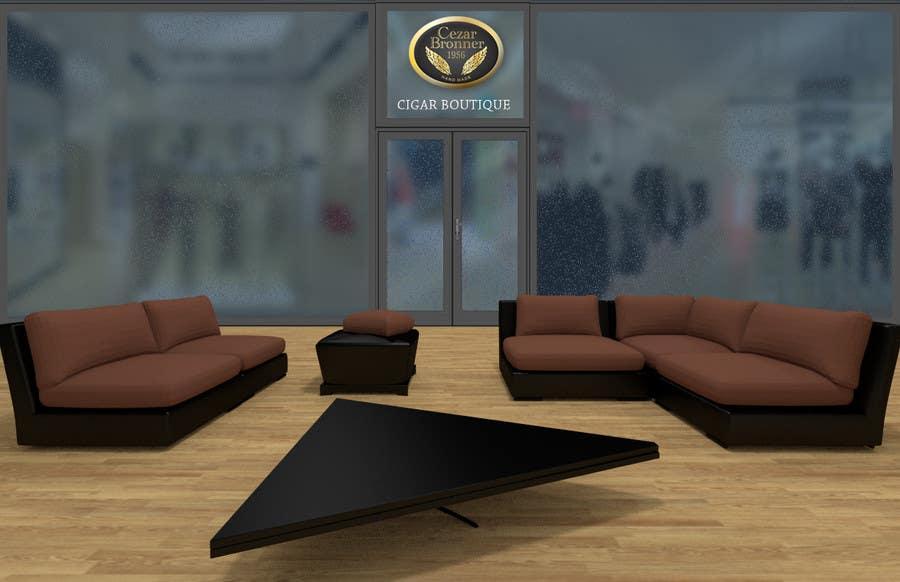 Penyertaan Peraduan #1 untuk Front face render of a Cigar Lounge.