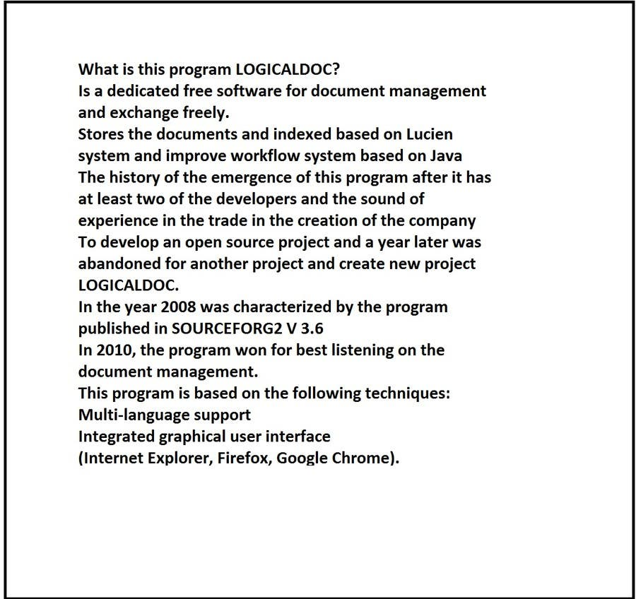 Proposition n°                                        5                                      du concours                                         Write an Article for LogicalDOC