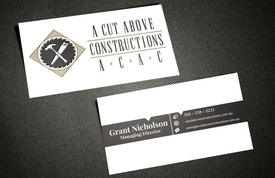Penyertaan Peraduan #10 untuk Business Card & Renders for A Cut Above Constructions