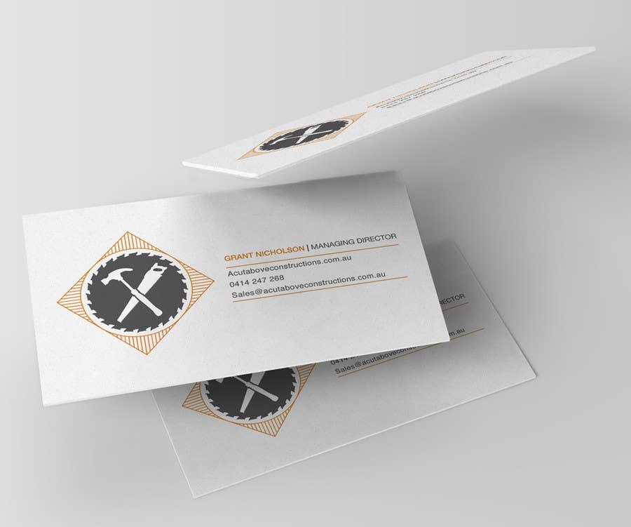 Penyertaan Peraduan #13 untuk Business Card & Renders for A Cut Above Constructions
