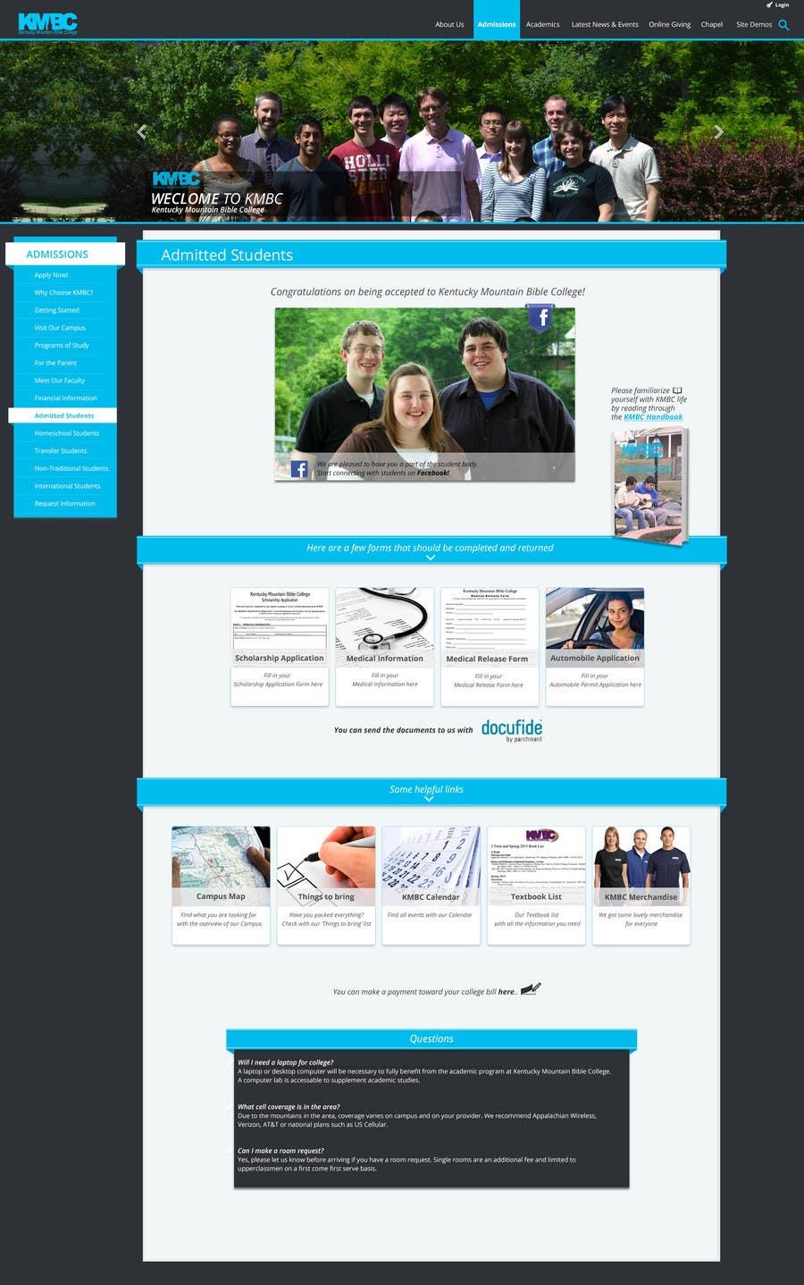 Konkurrenceindlæg #                                        28                                      for                                         Design a website page mockup for existing content