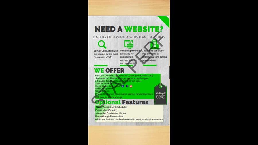 Konkurrenceindlæg #2 for Design a Flyer for Web Design Business