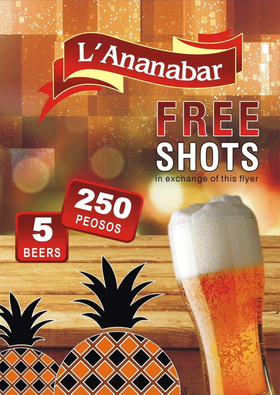 Penyertaan Peraduan #11 untuk Design a Flyer for a bar