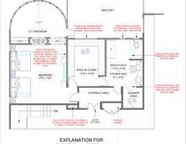 nº 76 pour Redesign  the floor plan of master suite for a better flow par javedahmedkhan5