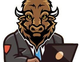 nº 7 pour Bison typing on a computer graphic par himelhafiz224466