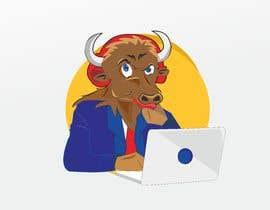 nº 14 pour Bison typing on a computer graphic par Adimalogo