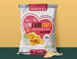 Nro 511 kilpailuun Design a Low Carb High Protein Chips Bag käyttäjältä Adreyat08