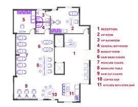 nº 1 pour Beauty Salon interior layout & furniture plan by autocad par ahmedamine5