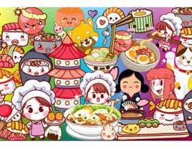 #35 for Kawaii Anime Sushi Food Banner Needed HIgh res by anishkrishna001