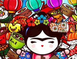 #28 for Kawaii Anime Sushi Food Banner Needed HIgh res by tannu3407