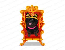 #181 cho Graphic design of a female dog character, with a royalty theme, which will be used as a large graphic on a t-shirt. bởi Muzeative