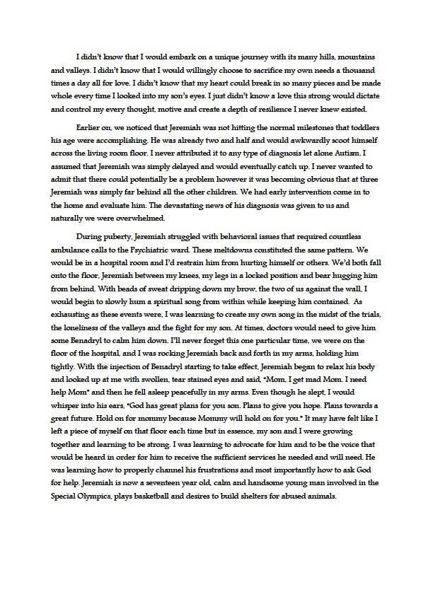 Kilpailutyö #5 kilpailussa Anthology for Autism 2