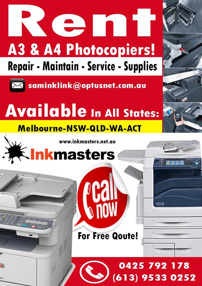 Kilpailutyö #57 kilpailussa Design a Flyer for Photocopier Rentals