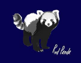 #19 for Design a red panda animal icon for embroidery by denberke