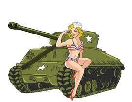 #24 para Bomber Betty on a tank por JohnGoldx