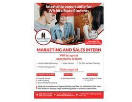 #128 para Flyer for interns por mesbahurrahman2